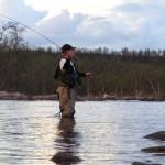 Niklas fiskar i Kaitumälven