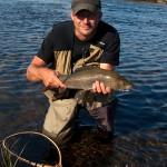 Flugfiske efter harr i Finnmark