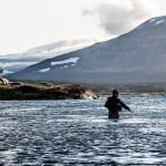 Niklas fiskar i Arjeplogsfjällen