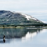 Stefan fiskar i Arjeplogsfjällen