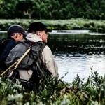 Niklas och Patrik spanar efter vak i hemligjokk