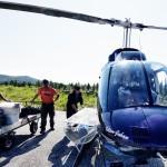 Väntan på helikopter ut till Skieltajokk