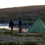 Sen hemkomst till lägerplatsen i Finnmark