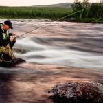 Flugval inför kvällsfiske i Kaitumälven