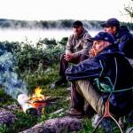 Paus inför nattfisket i Kaitumälven
