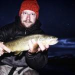 Öring vid nattfiske
